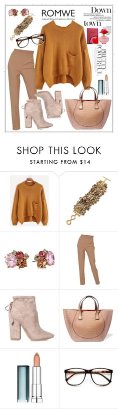 """""""Untitled #299"""" by aazraa ❤ liked on Polyvore featuring Carolee, Betsey Johnson, Hermès, Kendall + Kylie, Victoria Beckham, Maybelline, ZeroUV and Marc Jacobs"""