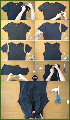diy clothes upcycle / diy clothes - diy clothes refashion - diy clothes no sewing - diy clothes rack - diy clothes videos - diy clothes upcycle - diy clothes line outside - diy clothes refashion no sew T-shirt Refashion, Diy Clothes Refashion, Thrift Store Diy Clothes, Revamp Clothes, Diy Clothes Tutorial, Diy Summer Clothes, Sewing Hacks, Sewing Tutorials, Sewing Tips