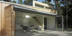 Arkitektur og hytte - Hytta åpner opp hele fronten mot naturen - Arkitektur