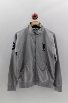 Vintage Polo USPA Half Zipper Sweater Ladies Medium US Polo Association Pullover Polo Big Pony Equastrian Gray Jumper Ladies Size M Used Clothing, Blue Trainers, Red Jumper, Vintage Jerseys, Pony, Sweaters For Women, Betty Boop, Zipper