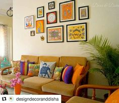 If you love Indian ethnic crafts, embrace them in your decor just like Disha. . #Repost @designdecoranddisha (@get_repost) . #happyhome #colorinspiration #colorfull #mypopofcolor #myeclecticmix #currentmood #currentdesignsituation #myhomevibe #pocketofmyhome #cornersofmyhome #designlovers #designinspo #decor123 #decor #instadecor #interiors4all #interior #interiordesign #interiorstyling #livingroom #livingroomdecor #indiandecorideas #desidecor #myplantlovinghome #designinspiration…