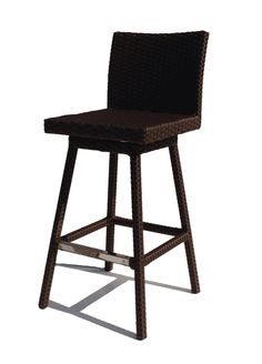 The mid-backed Wicker Paradise Sonoma Wicker Swivel Patio Barstool is ideal for your poolside bar or casual deck dining area. This patio barstool has.