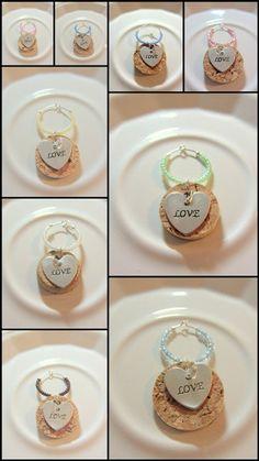Wedding Favor Wine Charm  Love by PleasantPresents on Etsy, $1.00