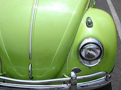 Somehow, a green VW Bug makes me think of aphids, only I like them - and not the aphids.  This would be the only green Bug I'd want in my yard.