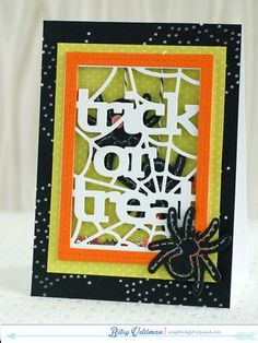 Spider Shaker Card by Betsy Veldman for Papertrey Ink (August 2014)
