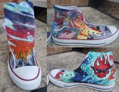 Kamina Converse Shoe by Inu-Josha on @DeviantArt