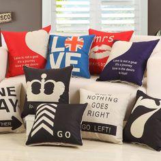 New Home Art Decor Cotton Linen Pillow Case Sofa Waist Throw Cushion Cover A2 #YIGE #ArtDecoStyle
