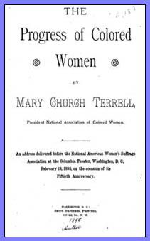 Terrell Address - African American Women and Suffrage