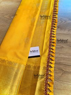Latest Saree Kuchu/Tassel Designs to Beautify Your Saree - Indian Fashion Ideas Saree Kuchu New Designs, Saree Tassels Designs, Wedding Saree Blouse Designs, Pattu Saree Blouse Designs, Blouse Designs Silk, Traditional Blouse Designs, Choli Blouse Design, Bridal Silk Saree, Bridal Dupatta