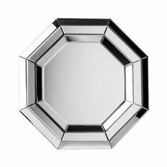 Octagonal Mirrored Glass Framed Modern Wall Mirror 60cm £91