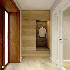 Dom w Opolu Hall Furniture, Built In Furniture, Furniture Design, Home Interior Design, Interior Decorating, Dressing Design, Hall Design, Entry Hall, Entrance