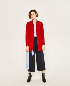 Red Frock Coat by Zara | $99.90