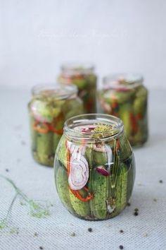 Wiem co jem: Korniszony Pickles, Cucumber, Mason Jars, Recipes, Food, Canning, Meal, Rezepte, Pickle