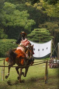 Yabusame (Japanese mounted horse archery) 流鏑馬