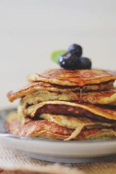 paleo pancakes | oh yes, we ate the famously-banned pancakes during #whole30. we won't go back to making regular ones. great w/whipped coconut cream + fruit!