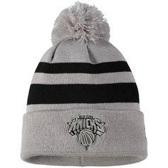 80688f4adcb68b Men's New York Knicks New Era Gray/Black Rebound Cuffed Knit Hat with Pom,  Your Price: $21.99