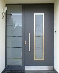 aluminium front doors - Google Search Modern Exterior Doors, Modern Entry, Contemporary Front Doors, Modern Front Door, Home Door Design, Modern House Design, Aluminium Front Door, Front Door Colors, House Doors