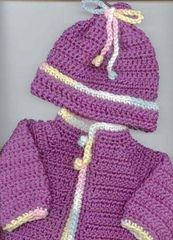Ravelry: Going Home Sweater Set pattern by Lyn's Designs