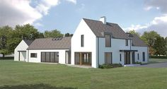 Paul McAlister Architects - The Barn Studio, Portadown, Northern Ireland… Modern Farmhouse Plans, Modern House Plans, Modern House Design, Farmhouse Ideas, Architect House, Architect Design, House Designs Ireland, House Ireland, Dormer House