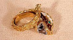 Drachenring, 750er Gold, Diamanten, Emaille/ Vorbild für diesen Ring CARRERA Y CARRERA (span. Luxusmarke) Schätzung 600-800 €