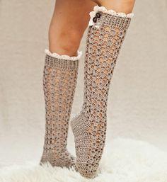 Lace ladies socks pattern