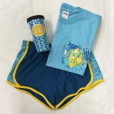 Looking for the perfect gift for your sorority girl? Our new sorority athletic shorts and Lilly pocket tees make the perfect go-to outfit for class! www.sassysorority.com #athleticshorts #lilly #greek #preppy #sassysorority #sororitygift #christmas #love