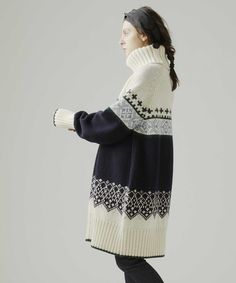Knitting Basics, Knitting Stitches, Hand Knitting, Knitwear Fashion, Knit Fashion, Tejido Fair Isle, Fair Isle Knitting, Handmade Dresses, Knit Dress