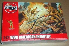#Airfix ww1 american infantry 1:72 scale (25mm) #model #soldiers unpainted plasti,  View more on the LINK: http://www.zeppy.io/product/gb/2/161979829528/