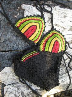 crochet bikini Rasta Tricolor - Crochet Jamaica Bikini Crochet Jamaican flag bikini Triangle Bikini Vintage Crochet Bikini  #Beachwear, #Bikini, #Crochet, #Swimwear  Womens 2017 Fashion #bikini #swimsuit #swimwear #beachwear #bikinitop #summertop #crochetbikini Ladies #handmadebikini #brazilianbikini #sexybikini #trianglebikini #crochetbathingsuit #crochetbikiniset #crochetswimwear China Crochet Bikini Swimwear Beachwear Bathing Suit|Set Factory/Manufacturer