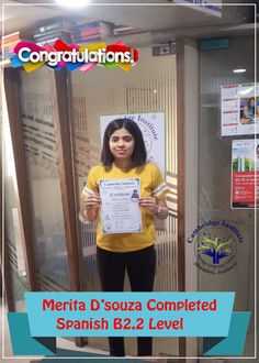 Student Completed B2.2 Level Spanish Language Classes, Ielts, Success, Student, College Students