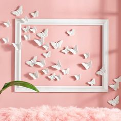 Our porcelain Butterflies in Flight will have you all aflutter with d possibilities. Each handmade butterfly in the set of four is three-dimensional, caught with wings mid-flight, sculpted with exquisite detail, and designed to be hung and positioned individually. Float them above your headboard for a romantic bedroom touch. Capture them in an open frame on the wall. Or buy several sets to fill and lighten a dark, empty corner in poetic (and dramatic) fashion. Compared to traditional canvas…
