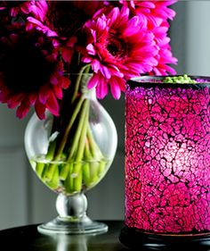 Change you Pink Zebra Simmering Lights Shade and Liner to accommodate your every day or seasonal decor....at the same time you are filling your home with your favorite fragrance! www.pinkzebrahome.com