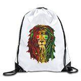 XJBD Custom Lion Rasta Hair Superb Travelers Bag White