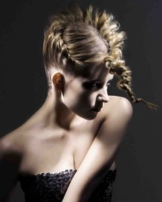 Why? lol RUSH - By David Baker, Plaited golden hair in a super stylish up do