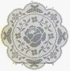 Kira scheme crochet: Rose with butterflies