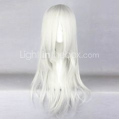 Cosplay Wigs Naruto Kimimaro Silver Medium Anime Cosplay Wigs 65 CM Heat Resistant Fiber Male - CAD $41.69