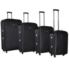 Spinner-Luggage-Set-4-Piece-Expandable-Travel-Suitcase-Wheels-Hard-Side-Black