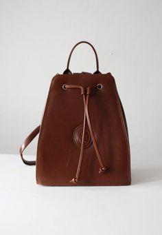 vintage leather backpack by 1919vintage on Etsy