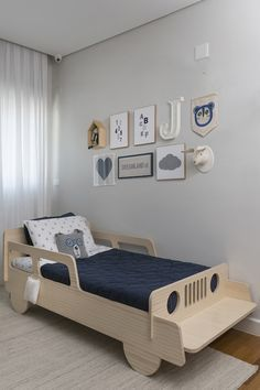 Three bedrooms for boys, made from mother to son, by Triplex Arquitetura # . - Three bedrooms for boys, made by mother to son, by Triplex Arquitetura - Bedroom Bed Design, Baby Bedroom, Baby Boy Rooms, Bedroom Decor, Bedroom Ideas, Bedroom Boys, Trendy Bedroom, Bedroom Designs, Kids Bedroom Furniture
