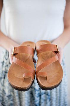 Cognac Summer Sandal