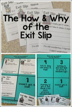 Learn the how and why of the exit slip and grab a freebie.