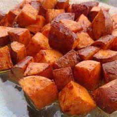 How to bake sweet potato with cinnamon
