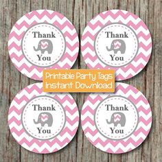 Baby Shower Printable Tags add the perfect touch to any party. They can be printed on cardstock or sticker paper for a variety of uses Baby Shower Tags, Baby Shower Favors, Elephant Birthday, Baby Elephant, Baby Shower Supplies, Party Supplies, Baby Shower Printables, Party Printables, Daycare Labels