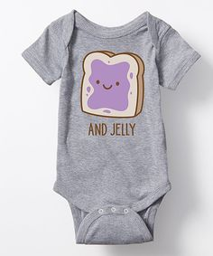 Take a look at this Athletic Heather Twins 'And Jelly' Bodysuit - Infant today!