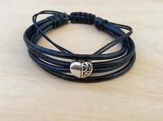 Men Leather Bracelet Mens Jewelry Men's Bracelet Husband