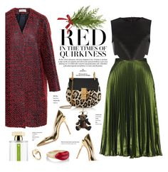 """Christmas Fusion"" by stellaasteria ❤ liked on Polyvore featuring Balenciaga, Topshop, Neil Barrett, Chloé, Gianvito Rossi, L'Artisan Parfumeur, Burberry, Alison Lou and Cartier"
