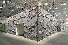 crumpled concrete paper pavilion by L3P architecture studio