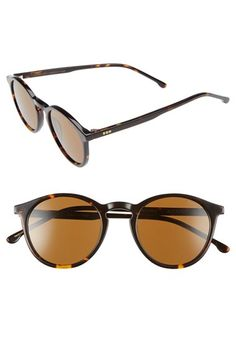 1920s Sunglasses Womens Komono Aston 48Mm Round Sunglasses - Tortoise $119.95 AT vintagedancer.com