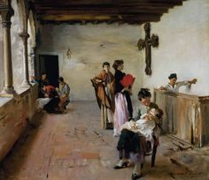 John Singer Sargent  Venetian Courtyard   c. 1882   Collection of Mrs. John Hay Whitney   Oil on canvas   71.7 by 80.6 cm (27 1/2 x 31 3/4 in.).