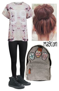 MAGCON by mssespinxsa on Polyvore featuring polyvore, fashion, style, Finders Keepers, H&M, Converse and clothing